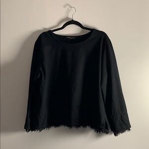 Beautiful Cotton Sweater with Lace Trim